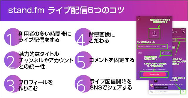 stand.fmのライブ配信でリスナーが増える6つのコツ